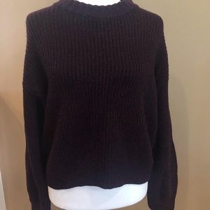 Athleta Purple Sweater w/ Scalloped Neckline, Sz S